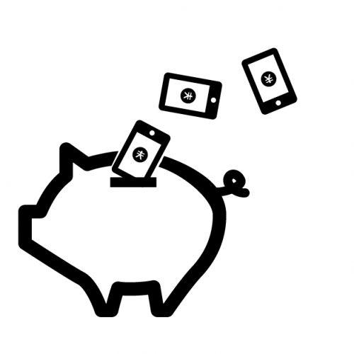 スマホで貯金イメージ