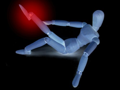 脚に電気がイメージ